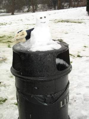 miniature snow person