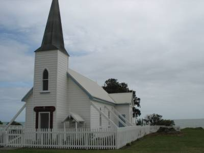 Anglican Church Ruakokore on the road from Te Kaha to Hicks Bay