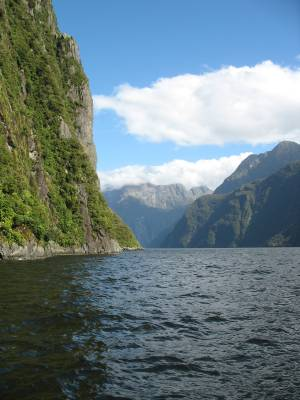 Mountains from Milford Sound