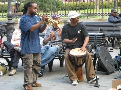 Street musicians New Orleans