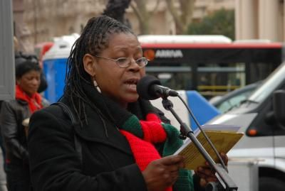 Speaker, Million Women Rise Rally London, March 2009