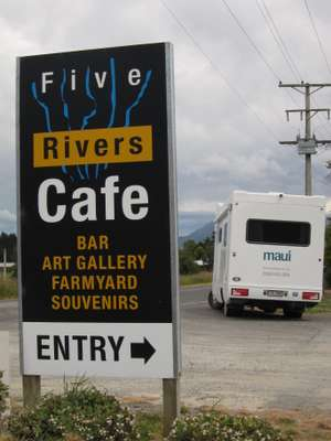 Five Rivers Cafe Sign