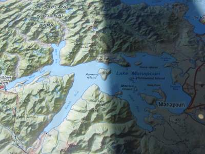Lake Manapouri map