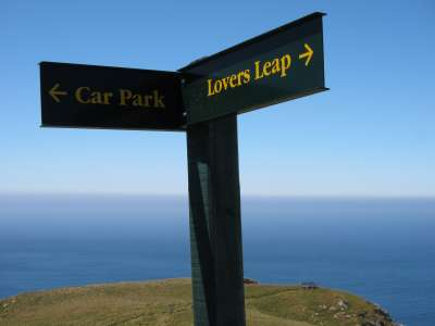 Lovers Leap Signpost