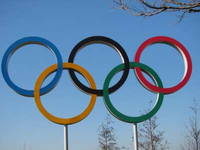 Olympic rings, Olympic Park, London