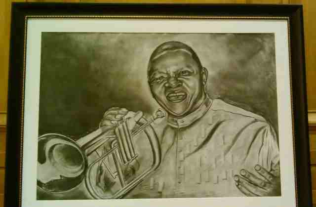 Hugh Masekela portrait