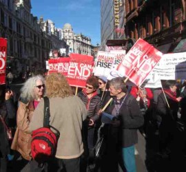Million Women Rise demo 2015