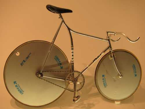 Moser road bike which broke the 1 hour record