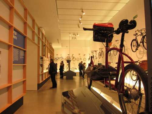 bicycles on display at cycle revolution exhibition