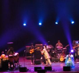 Baaba Maal and band on stage