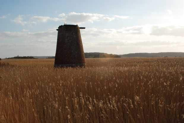 Old windmill, Walberswick, Suffolk