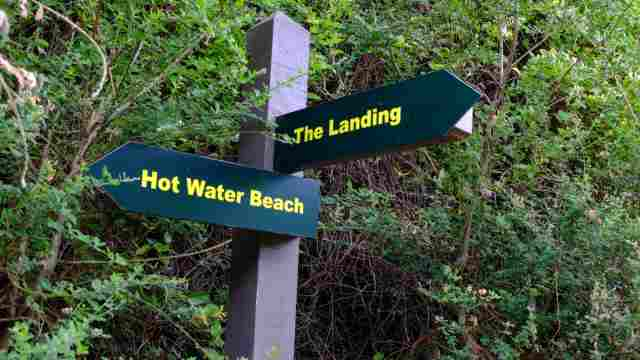 Directional sign on Tarawera Trail
