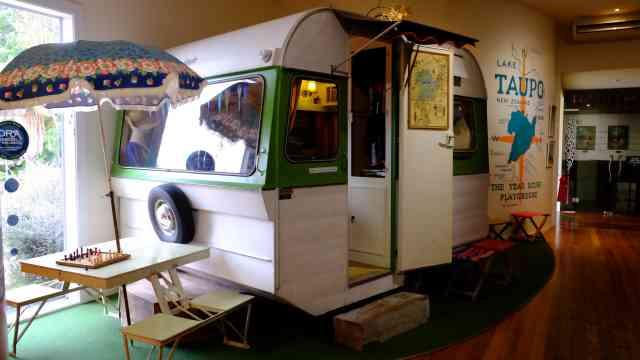 50's era caravan, Taupo Museum