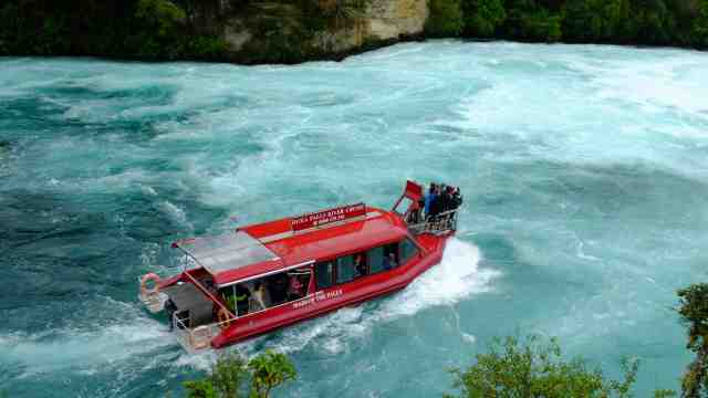 River boat cruise at Huka Falls