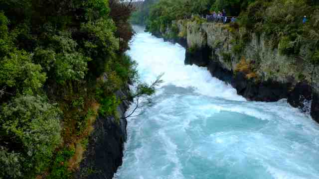 Powerful river at Huka Falls