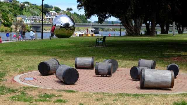 Park near river, Whanganui town