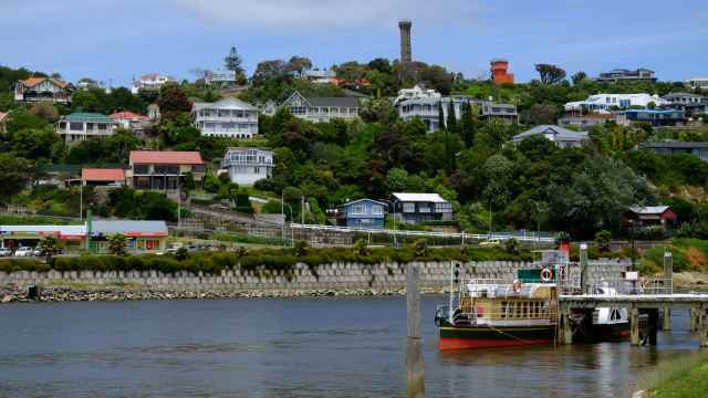 Whanganui river and town