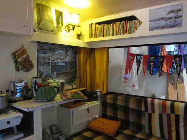 Inside 50's era caravan, Taupo Museum