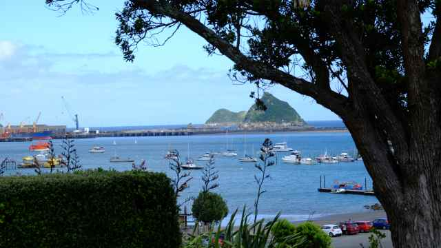 New Plymouth - harbour, boats, islands