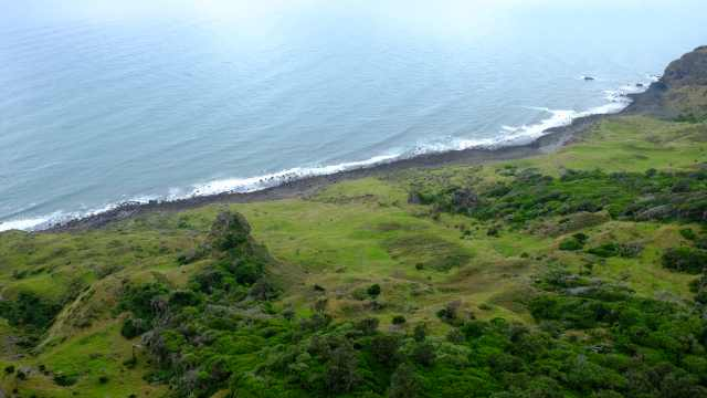View of coastline from Mt Karioi, Raglan