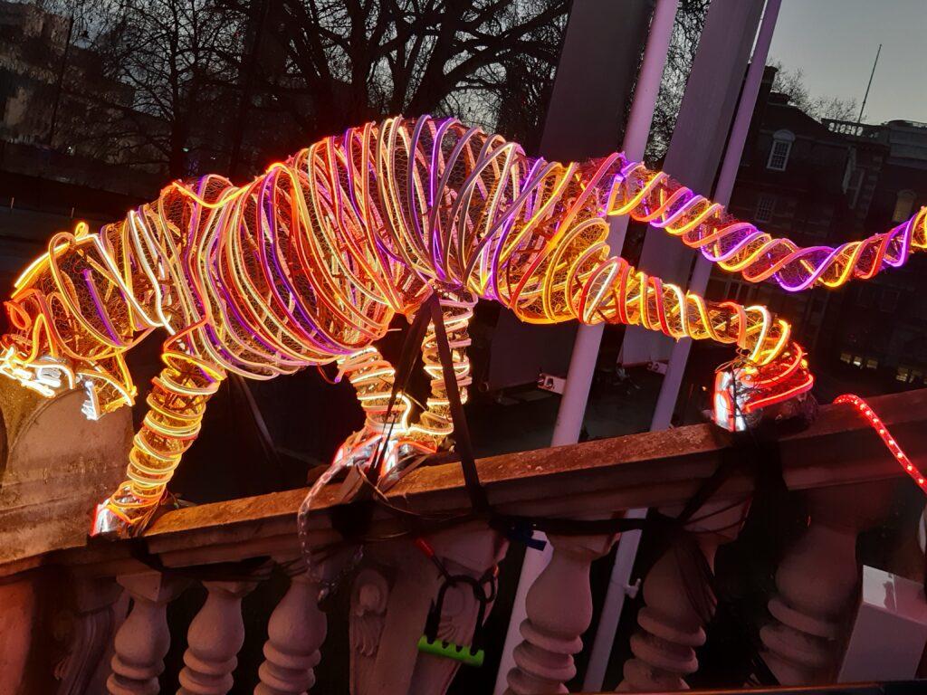 Tiger in lights